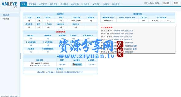 安乐业 anleye 房产网站系统 V5.0 商业版免费下载(带 4.0 升级文件)