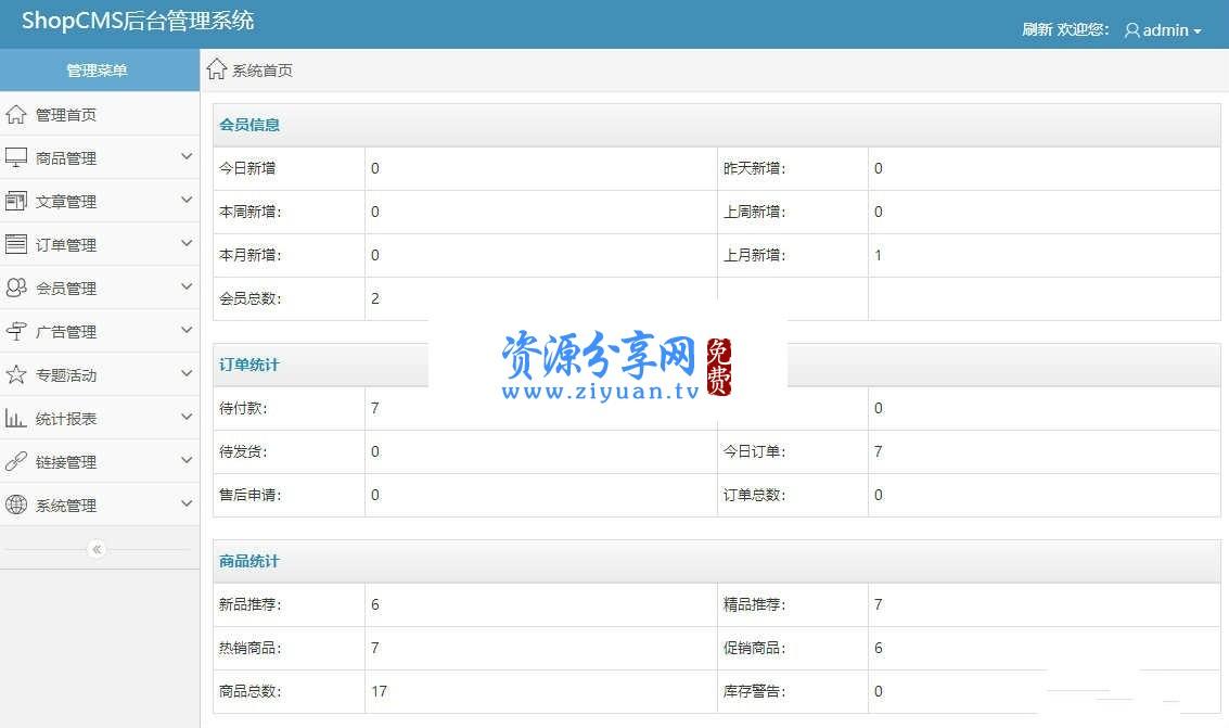ShopCMS 1.5 电商网站(网店)系统