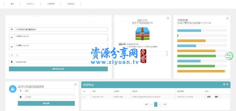 全新 UI 界面 PHP 域名授权系统源码 卡密自助授权