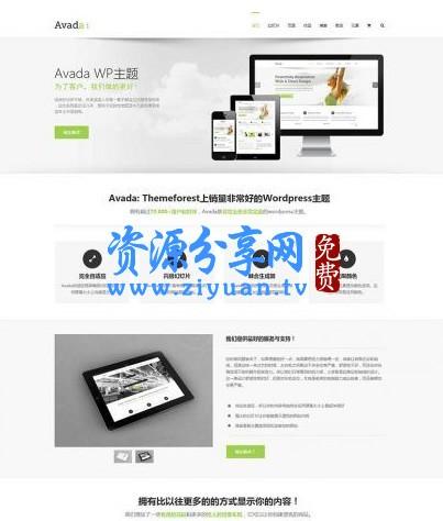 Avada 多功能企业主题去授权无限制版本 V5.8.2 WordPress 主题模板