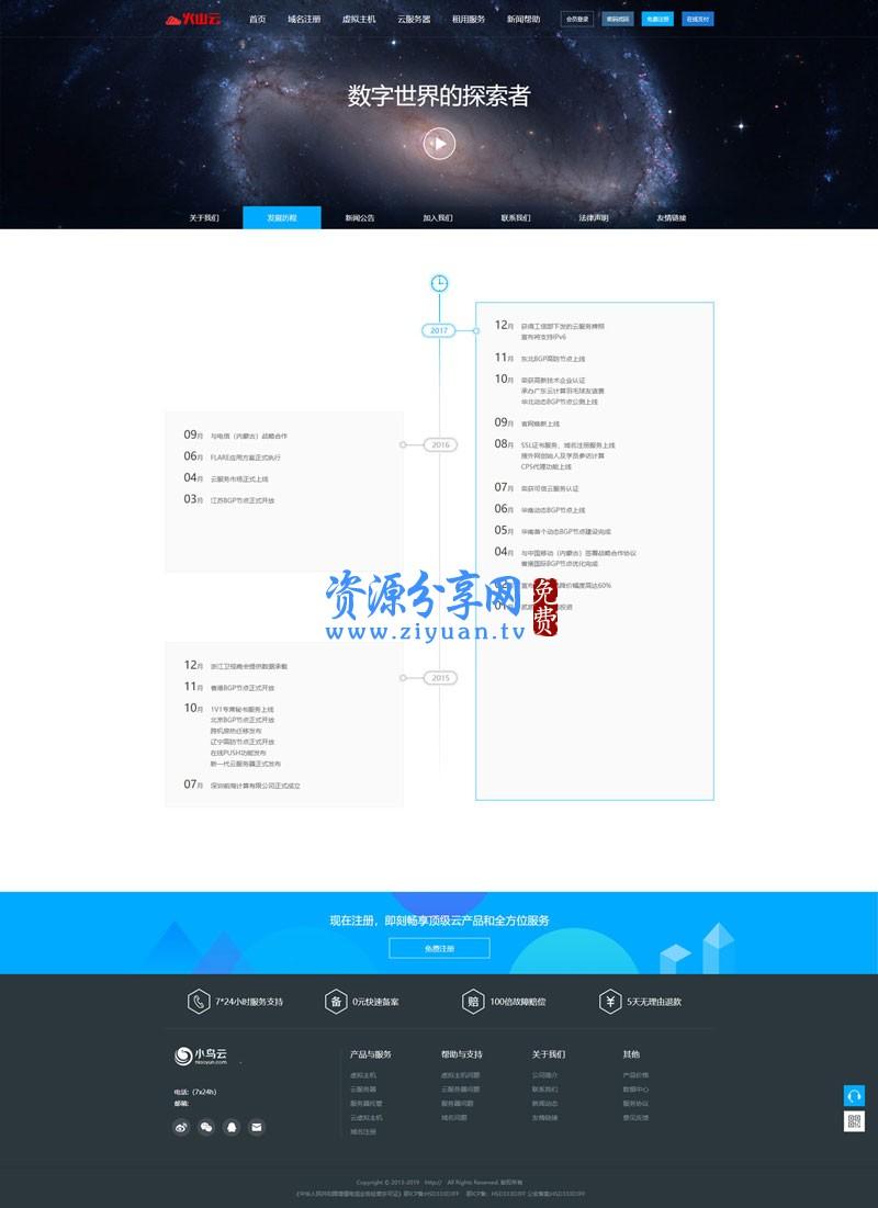 仿鸟云 IDC 模板 最新修复创梦虚拟主机管理系统+主控模板+鸟云模板源码