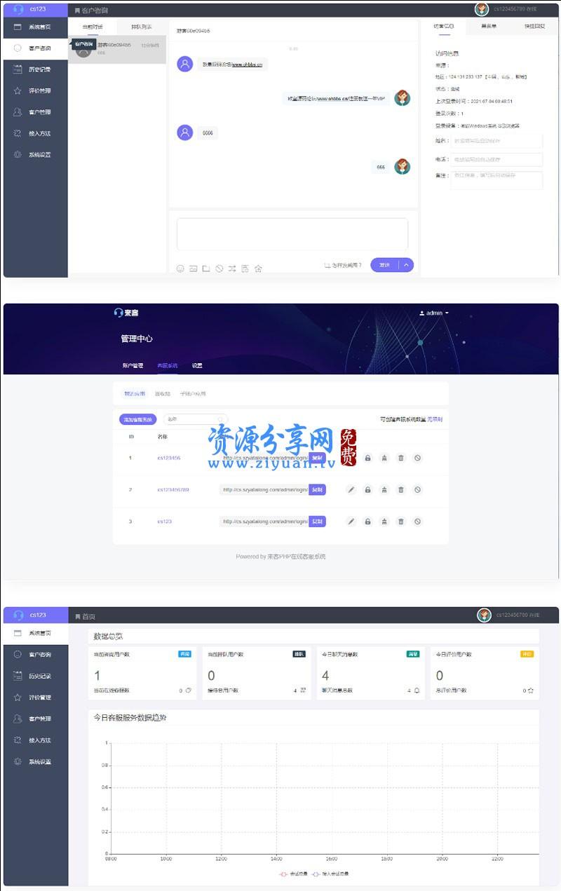 2021 最新版来客客服系统网站源码 多商户客服系统全开源一键安装
